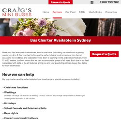 Find a Bus Charter in Sydney