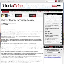 Charter Change in Thailand Again