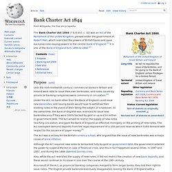 Bank Charter Act 1844