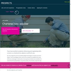 Chartered loss adjuster job profile