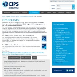 CIPS Risk Index - The Chartered Institute of Procurement and Supply