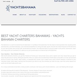 Exumas Scuba Diving - Yachts Bahama