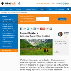 Team Charters - Team Management Training from MindTools.com