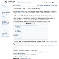 Chartes du droit à l'oubli numérique