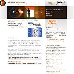 Les chartes d'usage, aide-mémoire