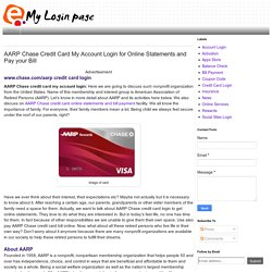 AARP Chase Credit Card Login for Online Statements and Pay your Bill