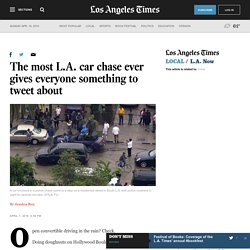 The most L.A. car chase ever gives everyone something to tweet about