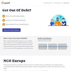 Are you being chased by NCO Europe for debts? Get free help today and stop debt collectors in their tracks