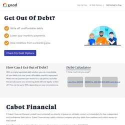 Are you being chased by Cabot Financial for debts? Get free help today and stop debt collectors in their tracks