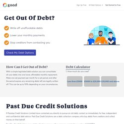 Are you being chased by Past Due Credit Solutions for debts? Get free help today and stop debt collectors in their tracks