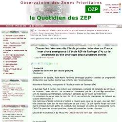 Chasser les fake news dès l'école primaire. Interview sur France Inter d'une(...)