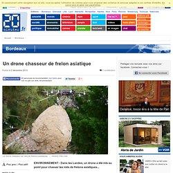 20MINUTES 02/12/13 Un drone chasseur de frelon asiatique (Landes)