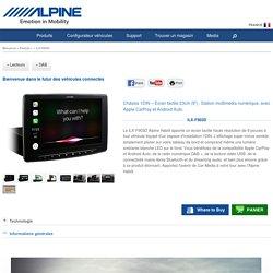 """Châssis 1DIN – Ecran tactile 23cm (9"""") . Station multimédia numérique, avec Apple CarPlay et Android Auto. - Alpine - iLX-F903D"""