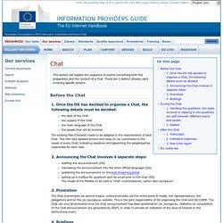 Otras modalidades de interpretación: el chat de la Comisión Europea