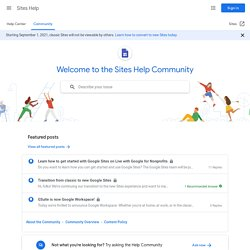 How way to add a chat/forum to your site? - Google Sites Help