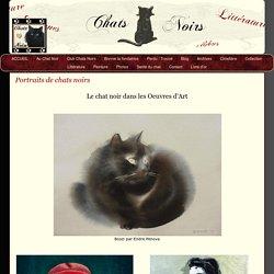 Chat-noir oeuvres d'Art