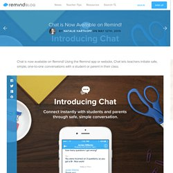 Chat is Now Available on Remind!