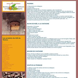 Farine de châtaigne: recettes de cuisine