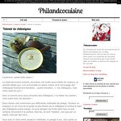 Velouté de châtaignes - Philandcocuisine