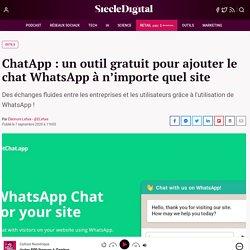 ChatApp : un outil gratuit pour ajouter le chat WhatsApp à n'importe quel site