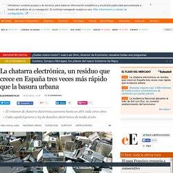 La chatarra electrónica, un residuo que crece en España tres veces más rápido que la basura urbana