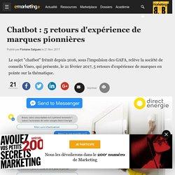 Chatbot : 5 retours d'expérience de marques pionnières