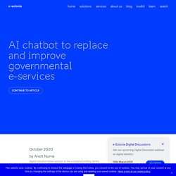 PaPol - AI chatbot to replace and improve governmental e-services — e-Estonia