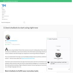11 best chatbots to start using right now - Thinkmobiles
