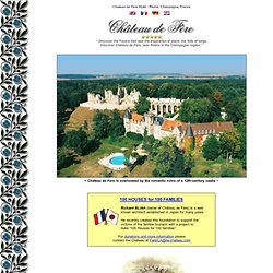 Chateau de Fere Hotel ***** near Reims Champagne France