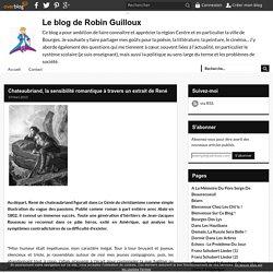 Chateaubriand, la sensibilité romantique à travers un extrait de René