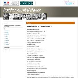 « Les Fusillés de Châteaubriant » de René Guy Cadou - Poètes en ...