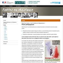 « Les Fusillés de Châteaubriant » de René Guy Cadou :Pistes pédagogiques-Poètes en résistance-Centre National de Documentation Pédagogique