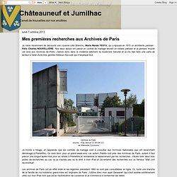 Mes premières recherches aux Archives de Paris