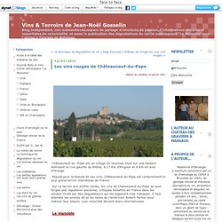 Les vins rouges de Châteauneuf-du-Pape : Vins & Terroirs - Jean Noel Gosselin