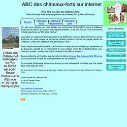 ABC des châteaux-forts sur internet, annuaire des sites sur les châteaux