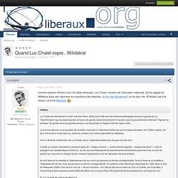 Quand Luc Chatel copie.. Wikibéral