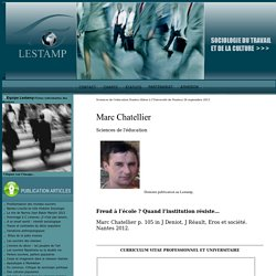 Marc Chatellier : Sciences Sociales Lestamp