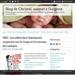 VEO : Les effets des châtiments corporels sur le corps et le cerveau des enfants - Blog de Christel, assmat à Guignen