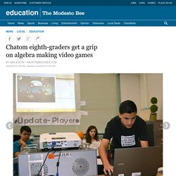 Chatom eighth-graders get a grip on algebra making video games