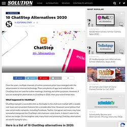10 ChatStep Alternatives 2020 - Solution Suggest