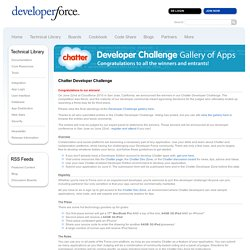 Chatter Developer Challenge