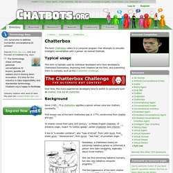 Chatterbox - a conversational program that chatters with human users