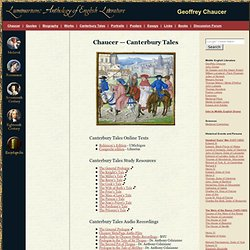 Chaucer's Canterbury Tales Study Resources