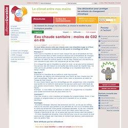 2010 - Eau chaude sanitaire : moins de C02 en été