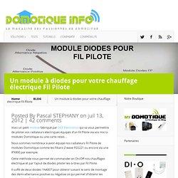Un module à diodes pour votre chauffage électrique Fil Pilote