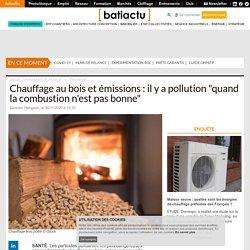 """Chauffage au bois et émissions : il y a pollution """"quand la combustion n'est pas bonne"""""""
