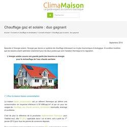 Chauffage gaz et solaire : duo gagnant par Jacques Ortolas
