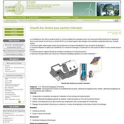 Chauffe Eau Solaire pour pavillon Individuel - STI2D