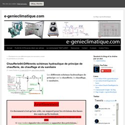 Chaufferie04-Différents schémas hydraulique de principe de chaufferie, de chauffage et du sanitaire