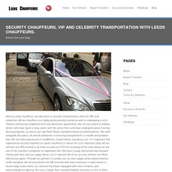 Security chauffeurs, VIP and celebrity transportation
